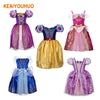 KG08 Sofia Rapunzel Belle Girl Dress Princess kids party dresses cosplay - online shopping wih