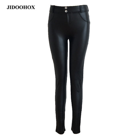 JE07 Leather Leggings gothic Sexy High significantly thin elastic pants jEANS - online shopping wih