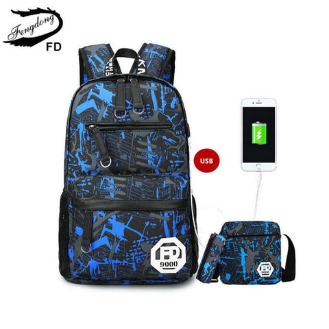 LP12 USB charging 15.6 inch laptop backpack for boy schoolbag men - online shopping wih