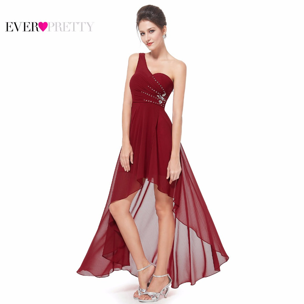 Evening Dresses Ever-Pretty EP08100 Sexy One Shoulder Chiffon Fashion 2017 Fashion Vestidos Evening Dresses - online shopping wih