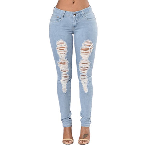 JE11 Ripped Jeans For Women 2017 Women Jeans Pencil Pants - online shopping wih