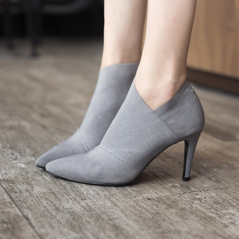 6203 Sale Europe And America Pointed Toe High-Heeled Women's Boots - online shopping wih