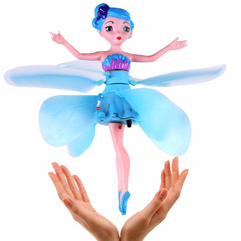 6 Colors Newest Flying Fairy Dolls Elsa Toy Infrared Induction Control