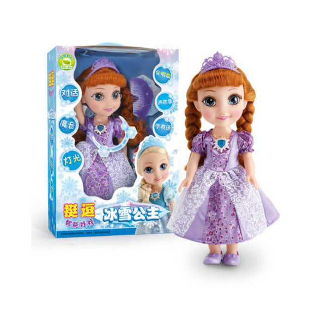 DO20 Ice Princess Doll Frozen Wig Toys With Music DOLLS - online shopping wih