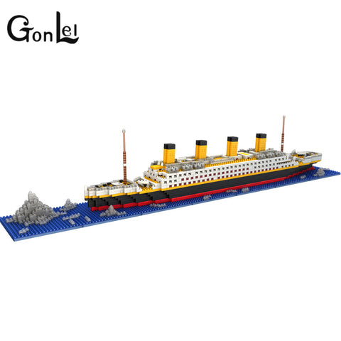 903 The Titanic DIY Assemble Building Blocks Model Toy - online shopping wih
