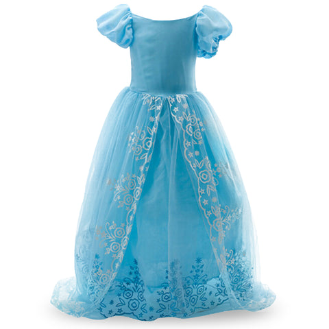 KG02 Christmas Girls Cinderella ELSA dress party princess costume fever cosplay - online shopping wih