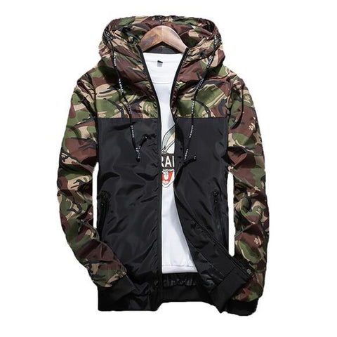 MC07 Spring Men's Camouflage Coat Mens Hoodies Casual Jacket Brand Clothing Mens Windbreaker Coats Male Outwear 5XL - online shopping wih