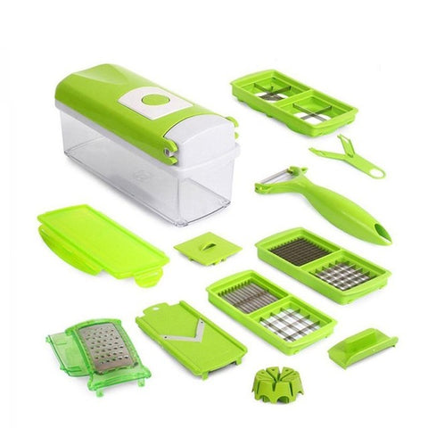 12 In 1 Multi-Purpose Fruit Vegetable Tools Slicer Cutter Peeler Dincer Kitchen Accessories Cooking Tools 3132 - coolsir sunglasses