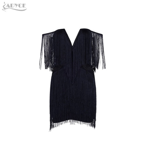 2018 New Spring Dress Elegant Tassels Embellished