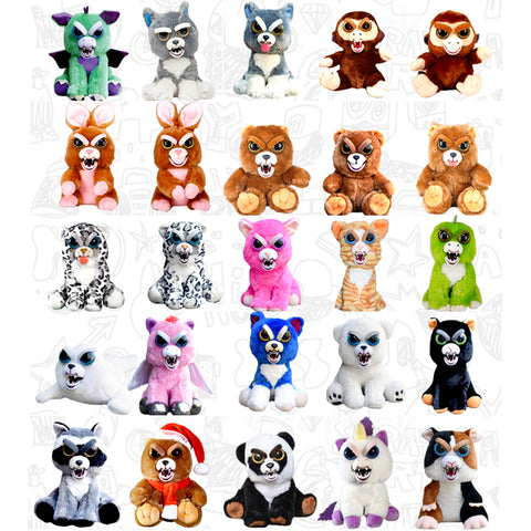 The 24 Original Feisty Pets Change Face Plush Toys - coolsir sunglasses