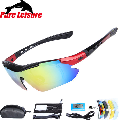 1 Set 5 Lens Fly Fishing Polar Glasses Clip On Sunglasses Polaryte  Polaryte HD Polarisantes Peche - online shopping wih