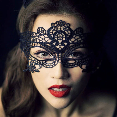 1PCS  Black Women Sexy Lace Eye Mask Party Masks For Masquerade Halloween Venetian Costumes Carnival Mask For Anonymous Mardi - online shopping wih