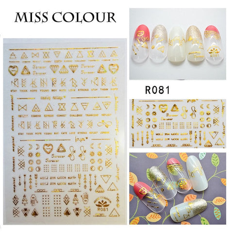 1pc 3D Nail Sticker