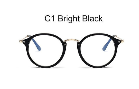 spectacles clear glasses transparent round glasses female blue