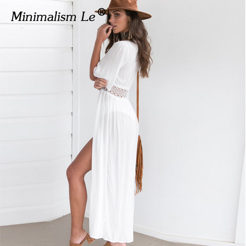 2019 Swim Dress New Beach Wear Women Beach Cover Up Summer Bandage Swimsuit - online shopping wih