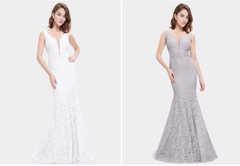 Lace Mermaid Prom Dresses Long - online shopping wih