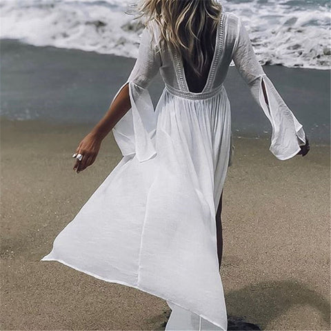 2019 Tunics for Beach Swimsuit Cover up Women Swimwear  beach dress - online shopping wih