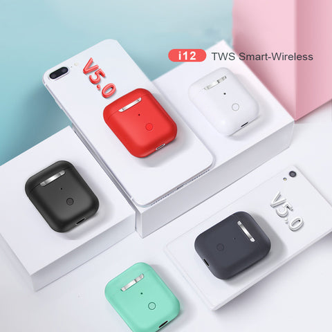 Airpods i12 TWS Touch control Mini pods Wireless Bluetooth 5.0 earphones headset - online shopping wih