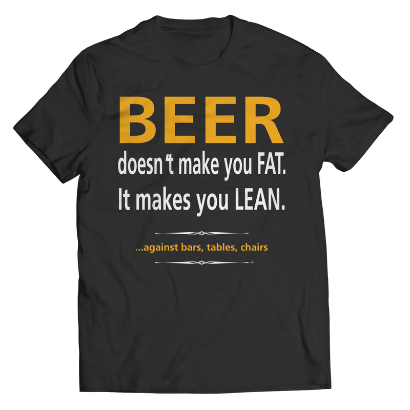 Beer doesn't make you fat.  It makes you lean.