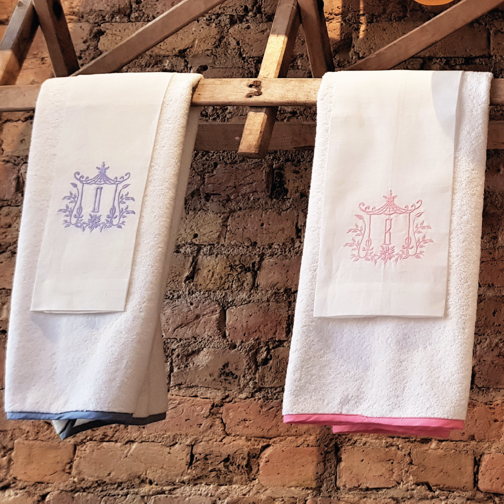 Towels | Linen with Framed Monogram