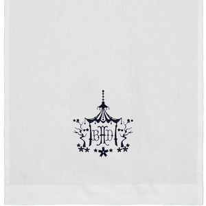 Open image in slideshow, Towels | Linen with Framed Monogram