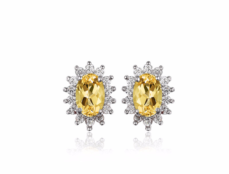 Princess - Earrings (925 Sterling Silver) Yellow