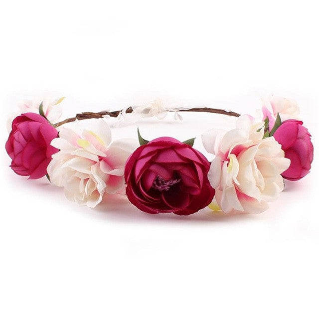 So Sweet Hair Accessories - White & Dark Pink
