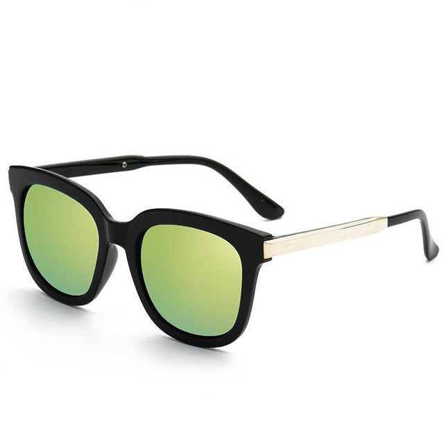 My Retro Side Sunglasses - black & green gold