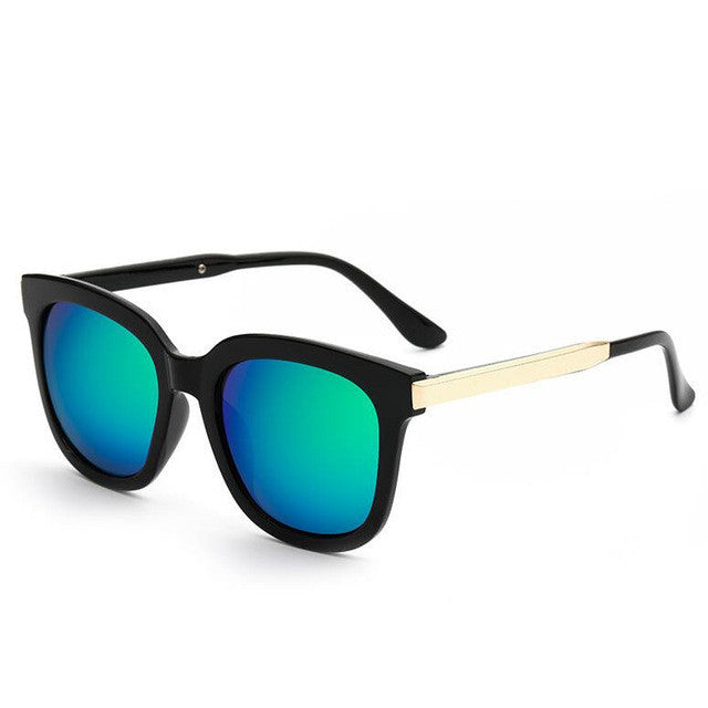 My Retro Side Sunglasses - black & green