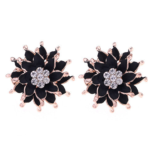 My Summer Flower Earrings - Black