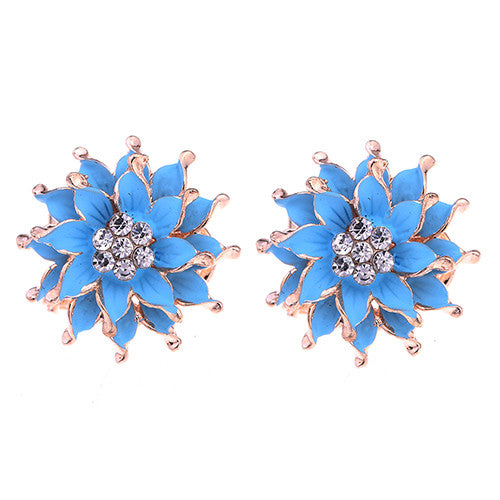 My Summer Flower Earrings - Blue