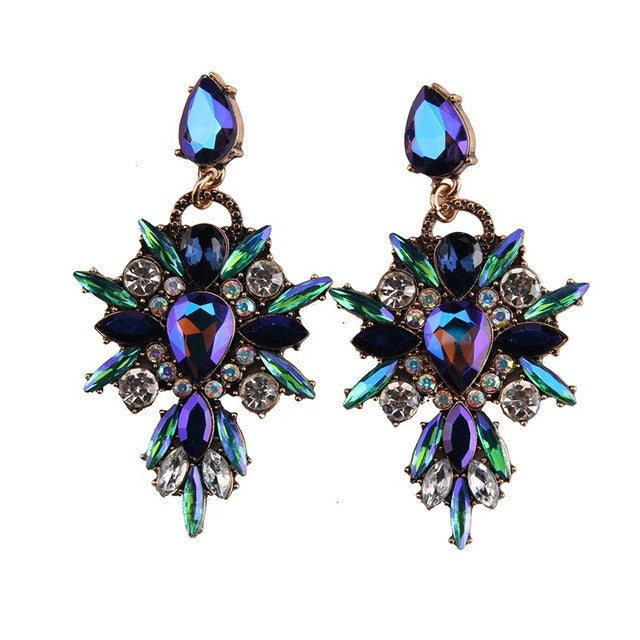 So Lush Earrings - Crystal Colorful