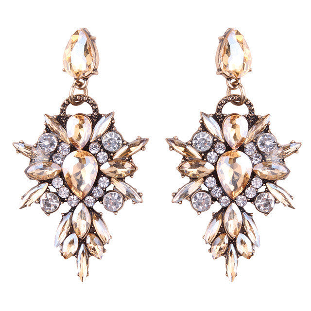 So Lush Earrings - Crystal Yellow