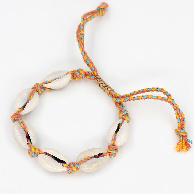 Shells Bracelet - Orange & Light Blue