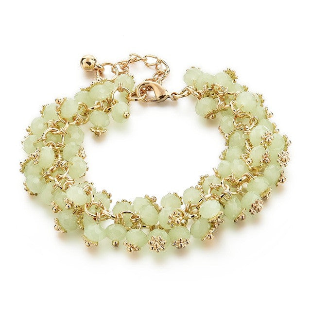 Summer Crystals Bracelet - light green