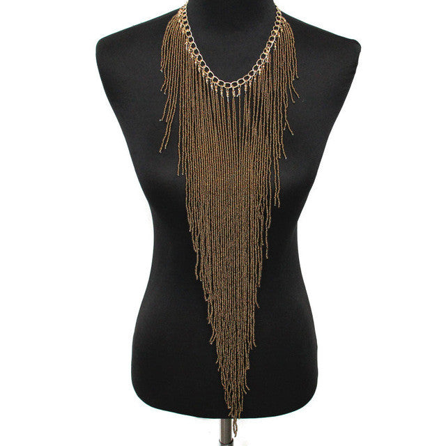 Long Necklace - Gold