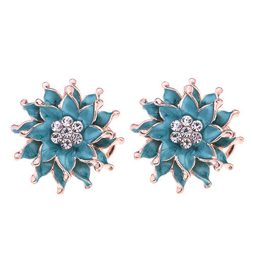 My Summer Flower Earrings - Green