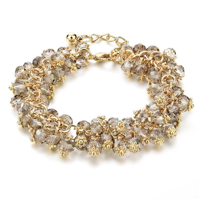 Summer Crystals Bracelet - brown