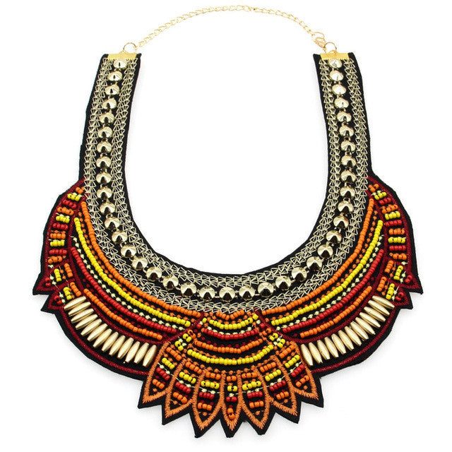 Multicolor Summer Necklace - Orange