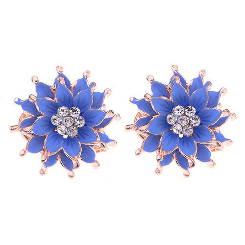 My Summer Flower Earrings - Blue Purple