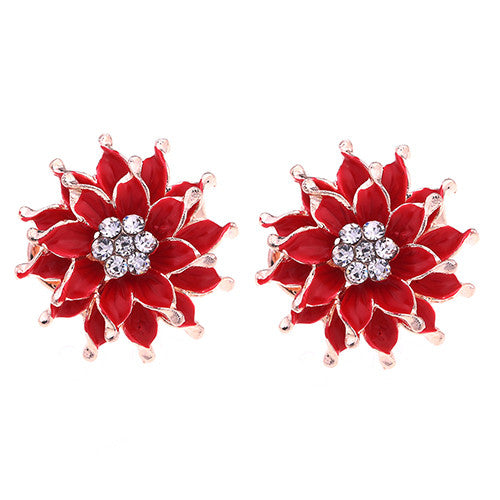 My Summer Flower Earrings - Red