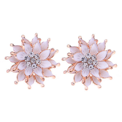 My Summer Flower Earrings - White