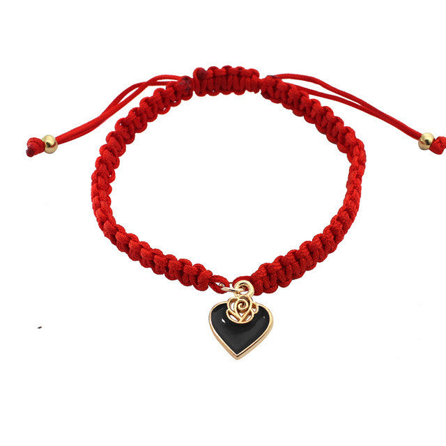 Pure Red Love Bracelet - black
