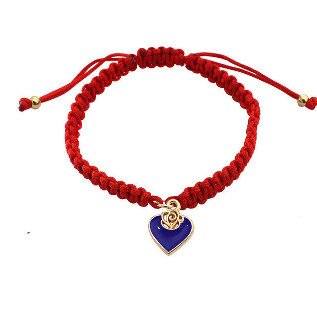 Pure Red Love Bracelet - deep blue