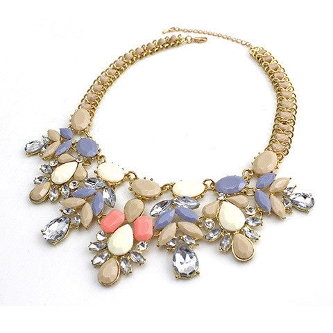 Water Drop Necklace - Dark Cream