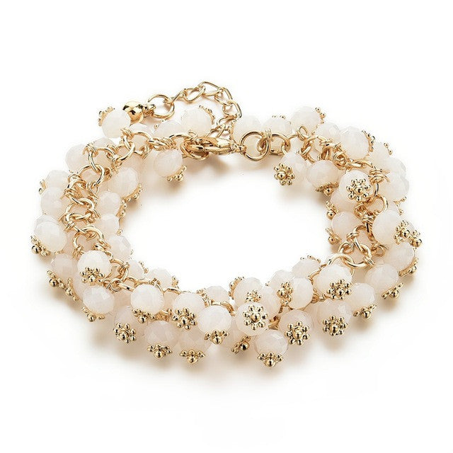 Summer Crystals Bracelet - white
