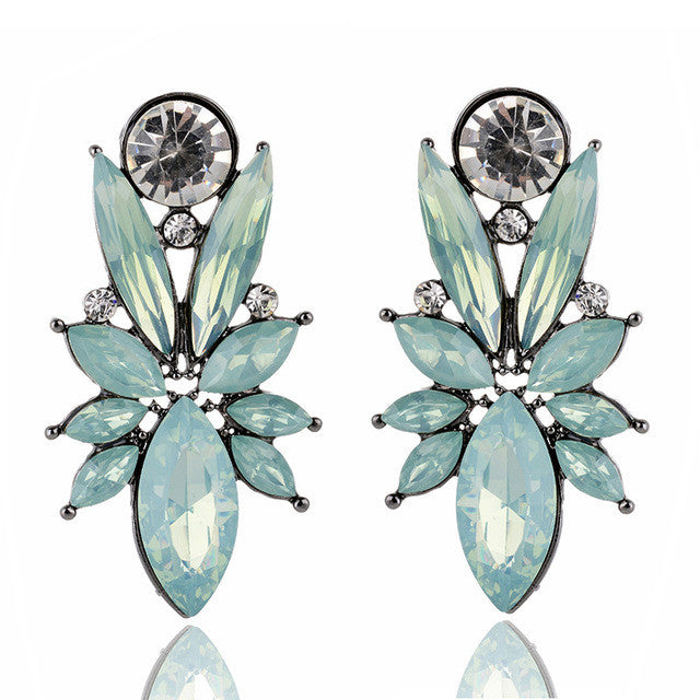 I'm So In Love Earrings - Opal Blue & Green