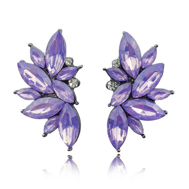 Opal Summer Earrings - Opal Purple