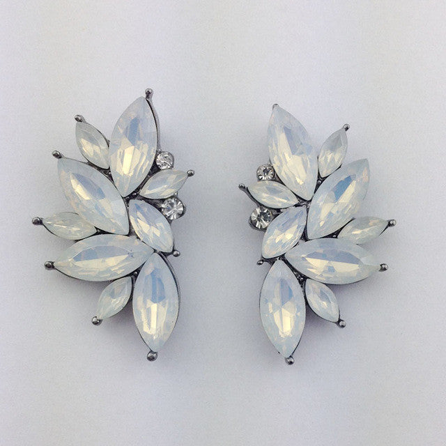 Opal Summer Earrings - Opal White