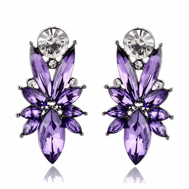 I'm So In Love Earrings - Purple